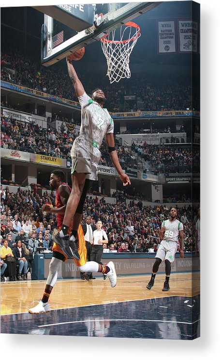 Nba Pro Basketball Acrylic Print featuring the photograph Jaylen Brown by Ron Hoskins