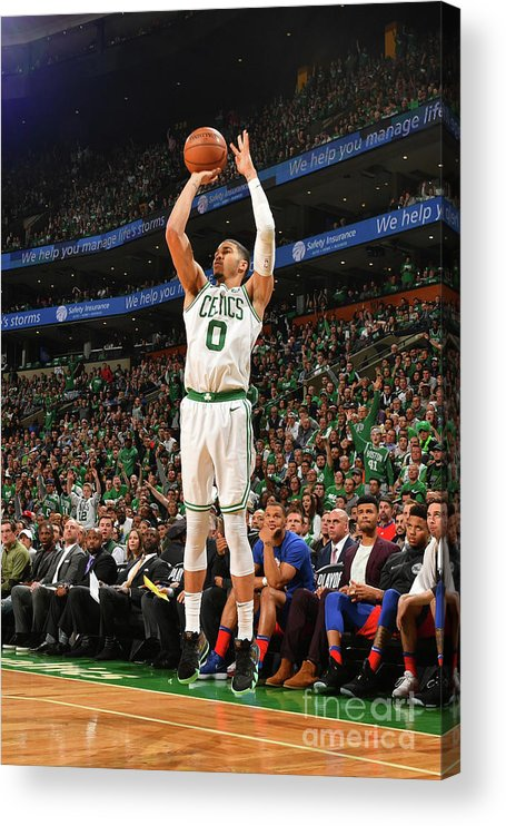 Playoffs Acrylic Print featuring the photograph Jayson Tatum by Jesse D. Garrabrant