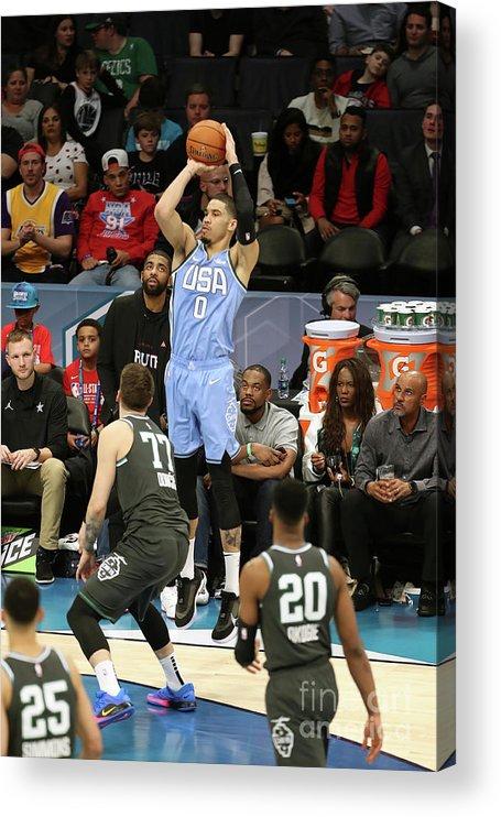 Nba Pro Basketball Acrylic Print featuring the photograph Jayson Tatum by Kent Smith
