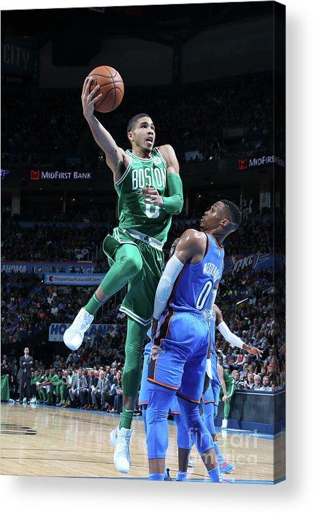 Nba Pro Basketball Acrylic Print featuring the photograph Jayson Tatum by Layne Murdoch