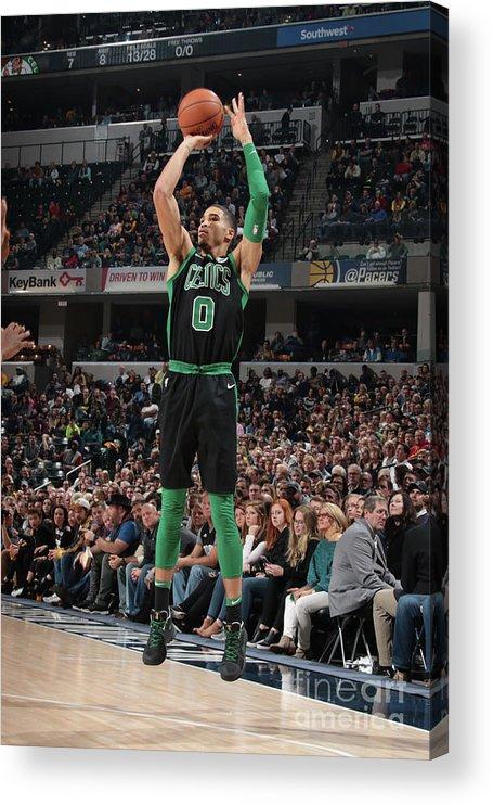 Nba Pro Basketball Acrylic Print featuring the photograph Jayson Tatum by Ron Hoskins