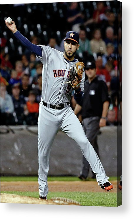 People Acrylic Print featuring the photograph Jed Lowrie by Jon Durr