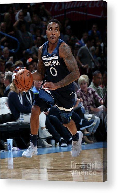 Nba Pro Basketball Acrylic Print featuring the photograph Jeff Teague by Layne Murdoch