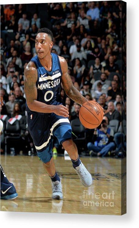 Nba Pro Basketball Acrylic Print featuring the photograph Jeff Teague by Mark Sobhani