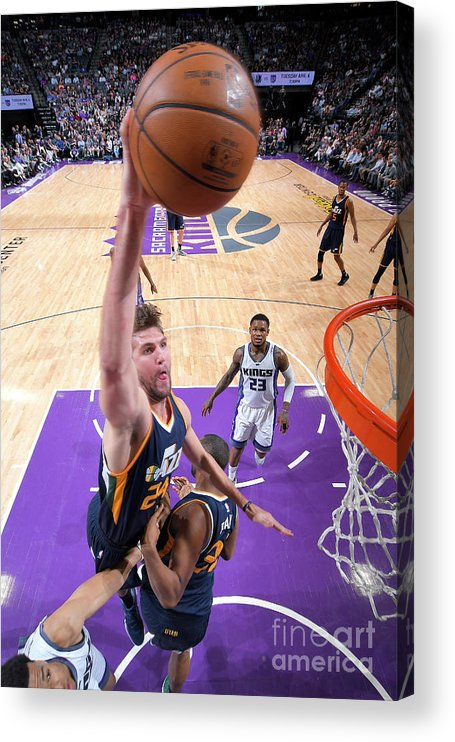 Nba Pro Basketball Acrylic Print featuring the photograph Jeff Withey by Rocky Widner