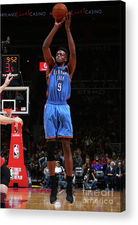 Nba Pro Basketball Acrylic Print featuring the photograph Jerami Grant by Ned Dishman