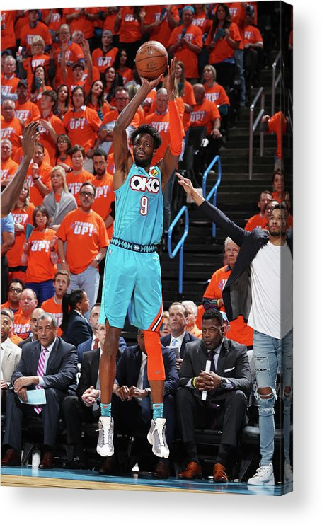Playoffs Acrylic Print featuring the photograph Jerami Grant by Zach Beeker