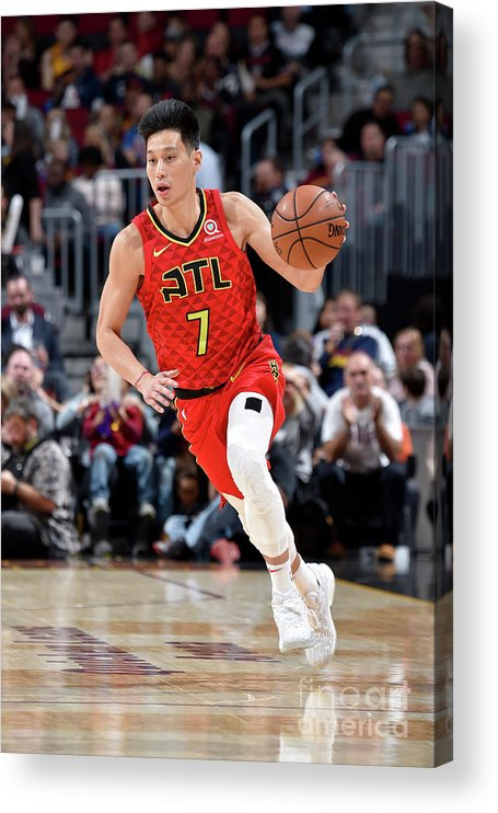 Nba Pro Basketball Acrylic Print featuring the photograph Jeremy Lin by David Liam Kyle
