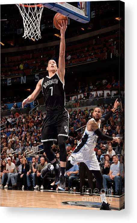 Nba Pro Basketball Acrylic Print featuring the photograph Jeremy Lin by Gary Bassing