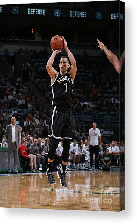 Number 7 Acrylic Print featuring the photograph Jeremy Lin by Gary Dineen
