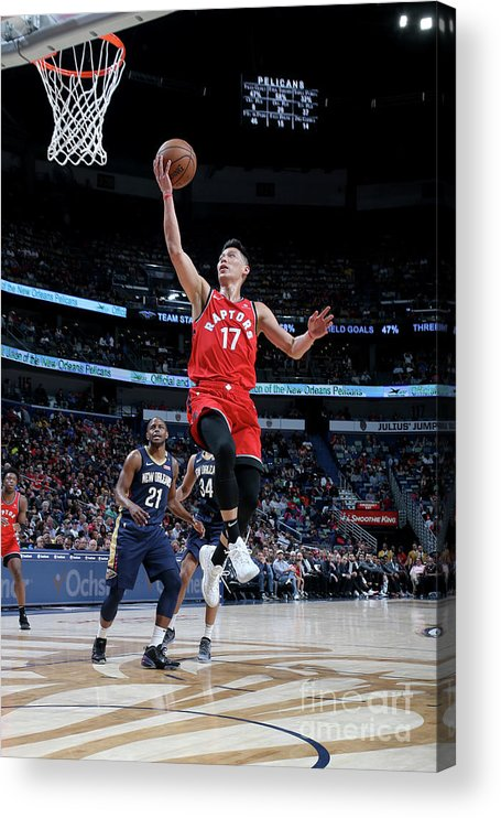 Smoothie King Center Acrylic Print featuring the photograph Jeremy Lin by Layne Murdoch Jr.