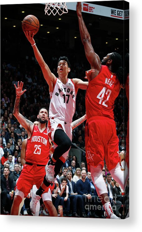 Nba Pro Basketball Acrylic Print featuring the photograph Jeremy Lin by Mark Blinch