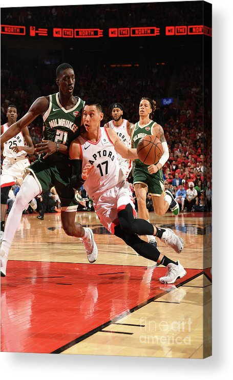 Nba Pro Basketball Acrylic Print featuring the photograph Jeremy Lin by Ron Turenne