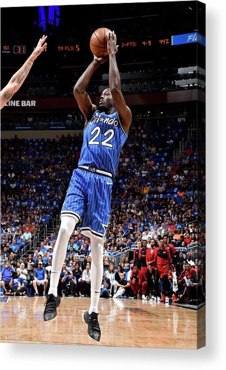 Nba Pro Basketball Acrylic Print featuring the photograph Jerian Grant by Fernando Medina