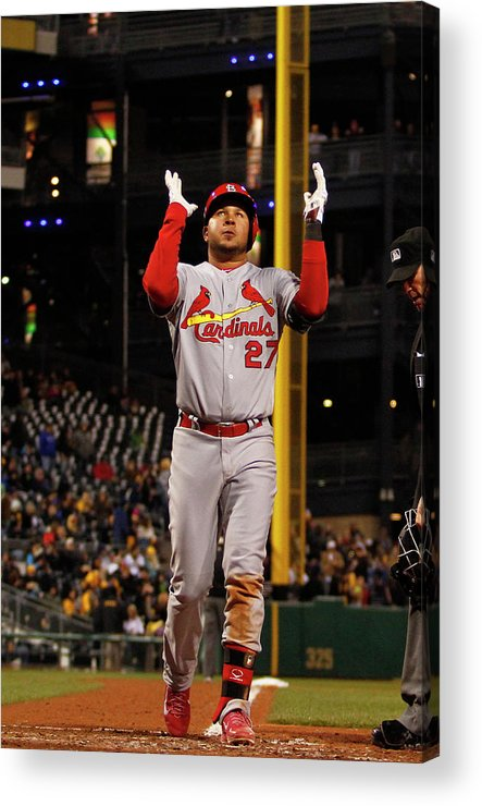 St. Louis Cardinals Acrylic Print featuring the photograph Jhonny Peralta by Justin K. Aller