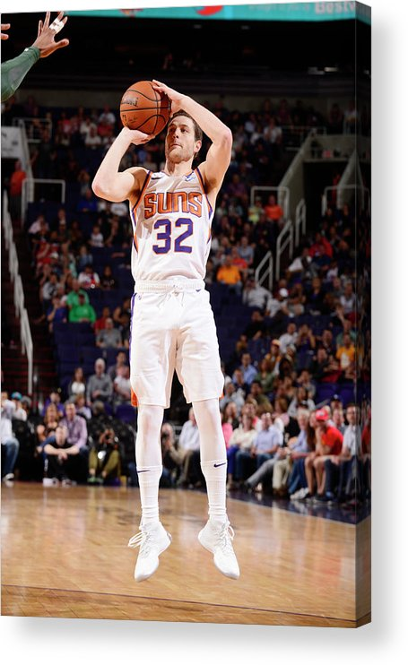 Nba Pro Basketball Acrylic Print featuring the photograph Jimmer Fredette by Barry Gossage