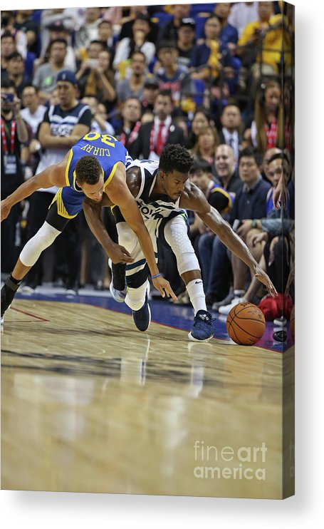Event Acrylic Print featuring the photograph Jimmy Butler and Stephen Curry by David Sherman