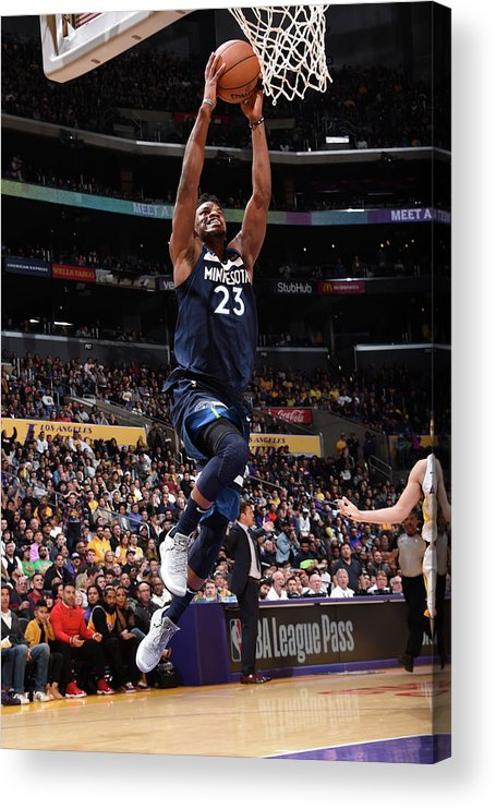 Nba Pro Basketball Acrylic Print featuring the photograph Jimmy Butler by Andrew D. Bernstein