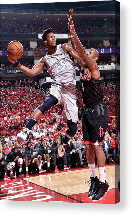 Playoffs Acrylic Print featuring the photograph Jimmy Butler by Bill Baptist