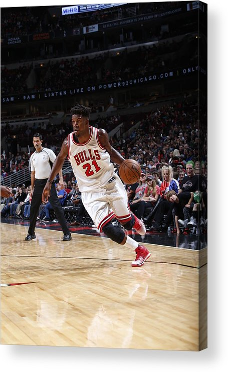 Nba Pro Basketball Acrylic Print featuring the photograph Jimmy Butler by Joe Robbins