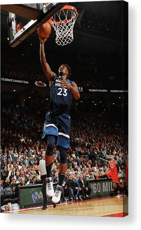 Nba Pro Basketball Acrylic Print featuring the photograph Jimmy Butler by Ron Turenne