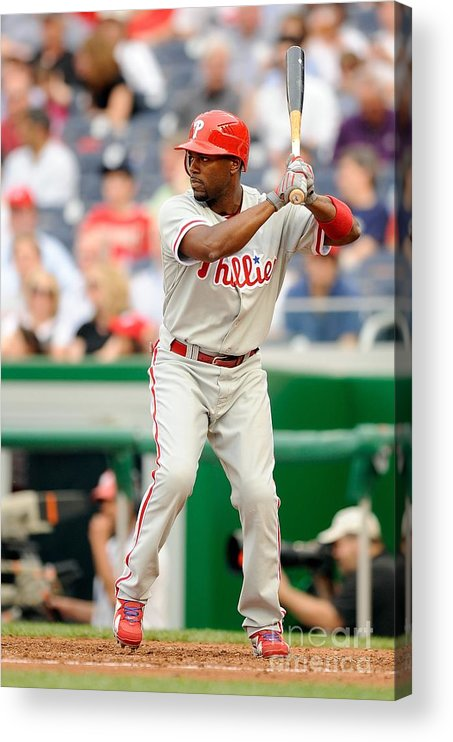 National League Baseball Acrylic Print featuring the photograph Jimmy Rollins by G Fiume