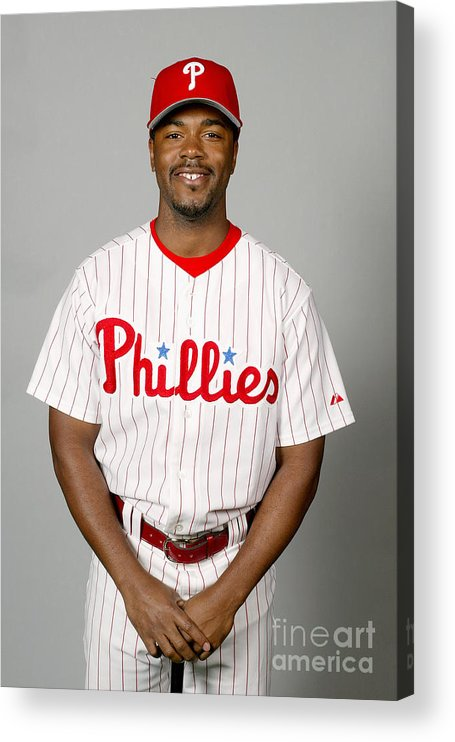 Clearwater Acrylic Print featuring the photograph Jimmy Rollins by Major League Baseball Photos