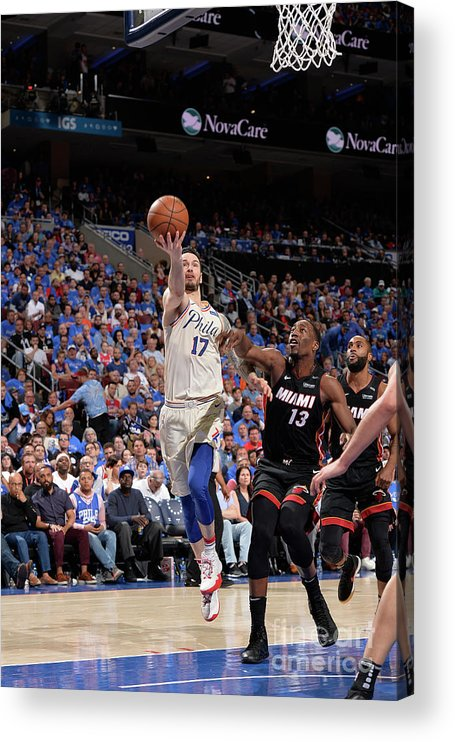 Playoffs Acrylic Print featuring the photograph J.j. Redick by David Dow