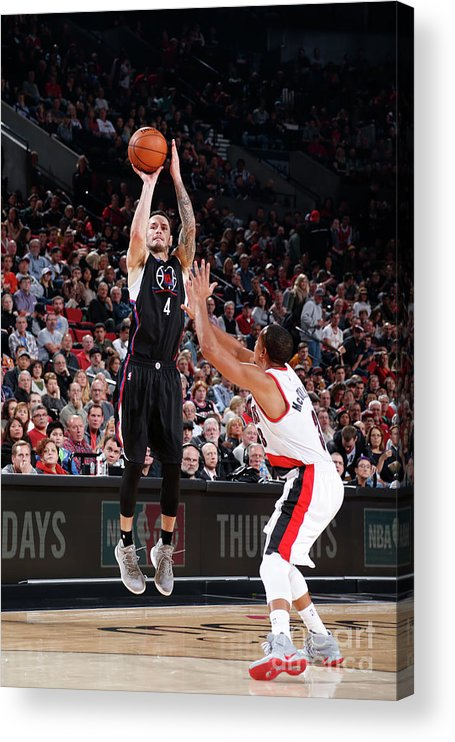 Nba Pro Basketball Acrylic Print featuring the photograph J.j. Redick by Sam Forencich