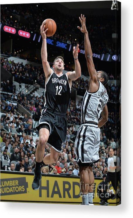 Nba Pro Basketball Acrylic Print featuring the photograph Joe Harris by Mark Sobhani