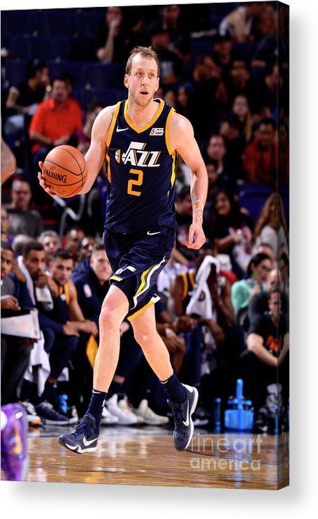 Nba Pro Basketball Acrylic Print featuring the photograph Joe Ingles by Barry Gossage
