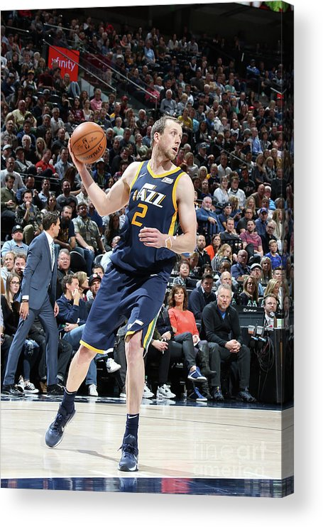 Nba Pro Basketball Acrylic Print featuring the photograph Joe Ingles by Melissa Majchrzak