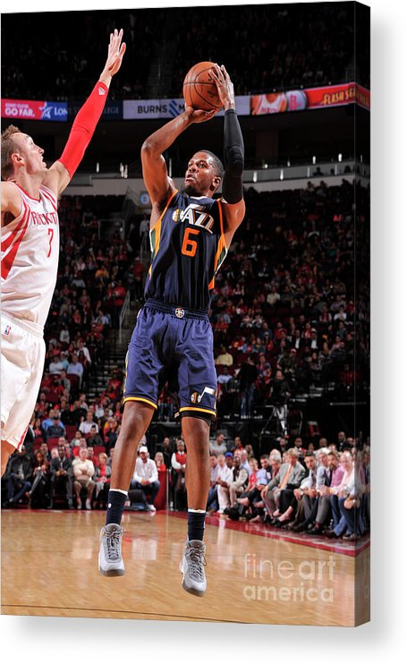 Nba Pro Basketball Acrylic Print featuring the photograph Joe Johnson by Bill Baptist