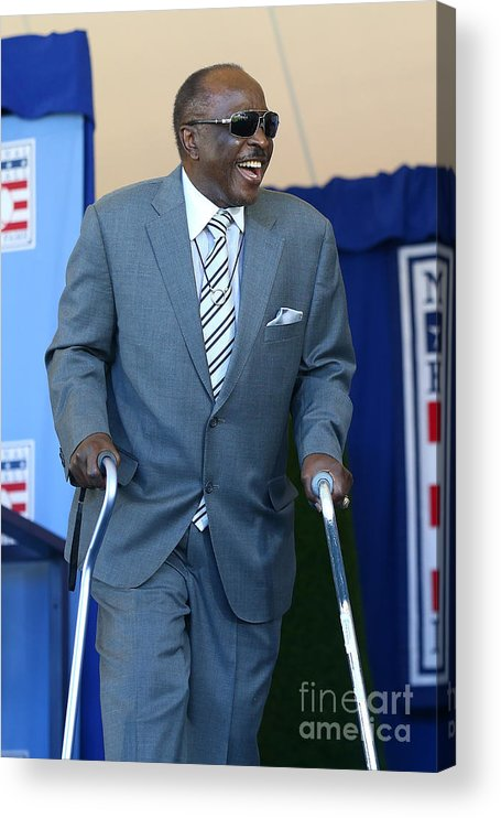 Three Quarter Length Acrylic Print featuring the photograph Joe Morgan by Mike Stobe
