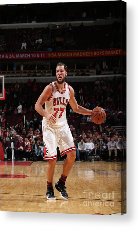 Nba Pro Basketball Acrylic Print featuring the photograph Joffrey Lauvergne by Gary Dineen