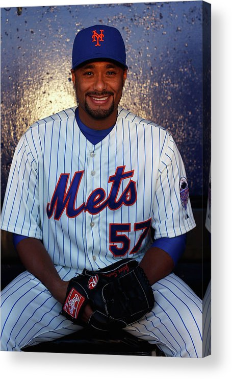 Media Day Acrylic Print featuring the photograph Johan Santana by Chris Trotman