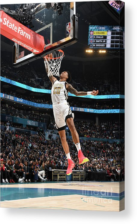 Nba Pro Basketball Acrylic Print featuring the photograph John Collins by Andrew D. Bernstein