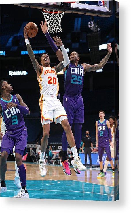 Nba Pro Basketball Acrylic Print featuring the photograph John Collins by Brock Williams-Smith