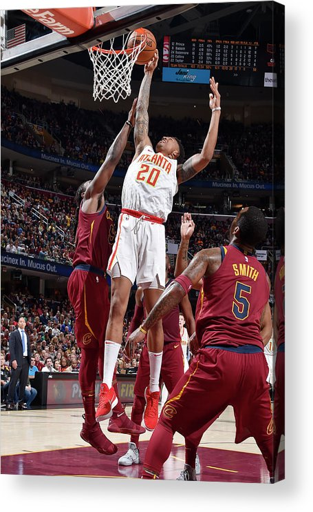 Nba Pro Basketball Acrylic Print featuring the photograph John Collins by David Liam Kyle