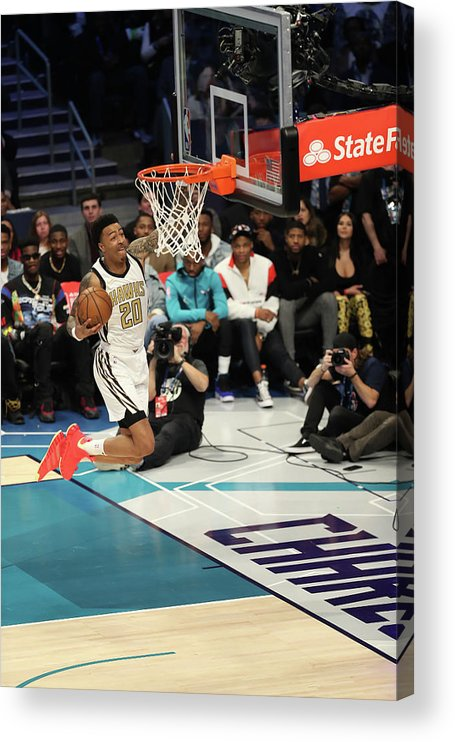 Nba Pro Basketball Acrylic Print featuring the photograph John Collins by Kent Smith