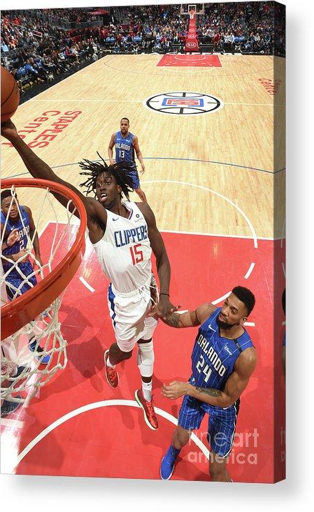 Nba Pro Basketball Acrylic Print featuring the photograph Johnathan Motley by Adam Pantozzi