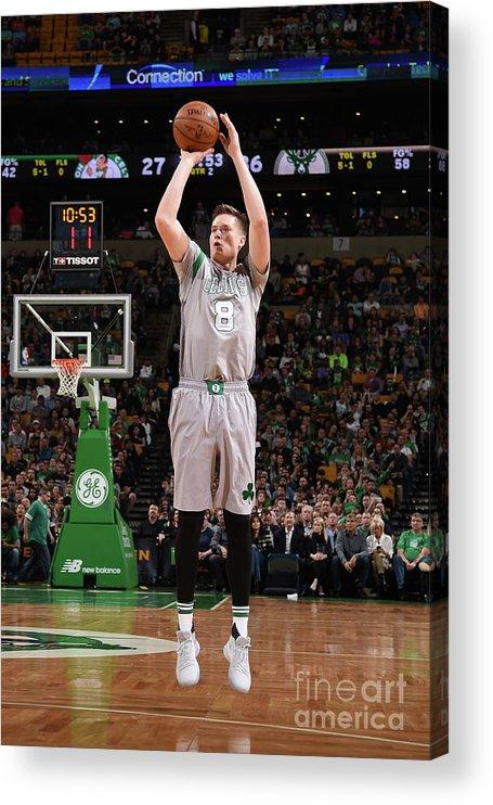 Nba Pro Basketball Acrylic Print featuring the photograph Jonas Jerebko by Brian Babineau