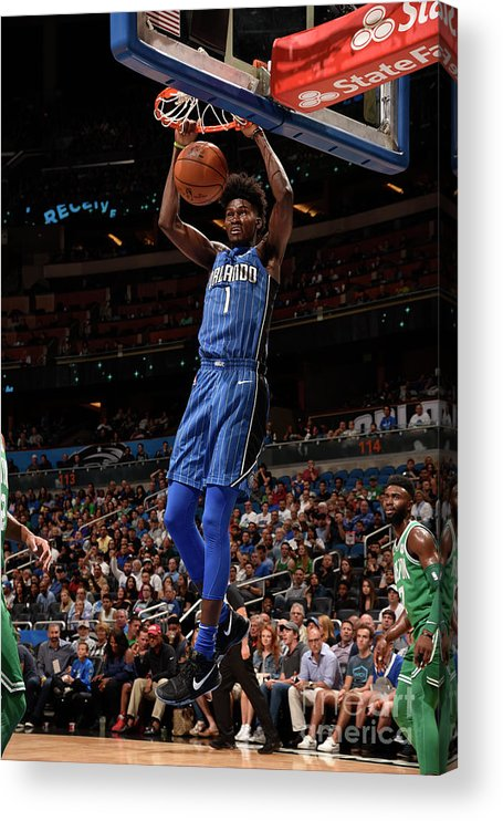 Nba Pro Basketball Acrylic Print featuring the photograph Jonathan Isaac by Gary Bassing