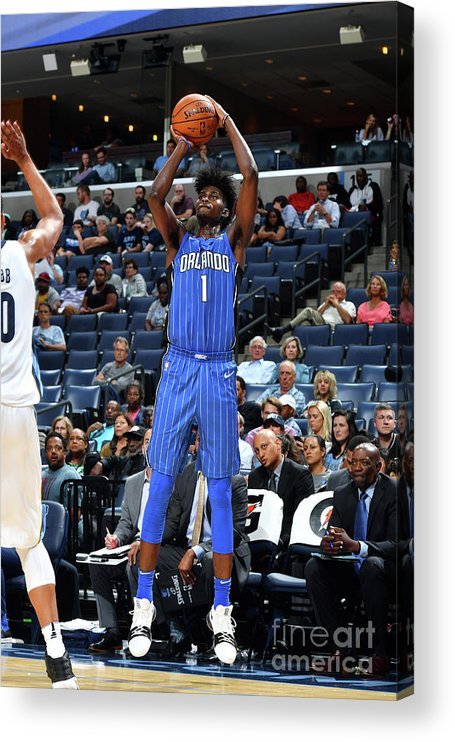 Nba Pro Basketball Acrylic Print featuring the photograph Jonathan Isaac by Jesse D. Garrabrant