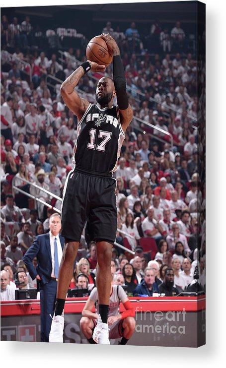 Playoffs Acrylic Print featuring the photograph Jonathon Simmons by Bill Baptist