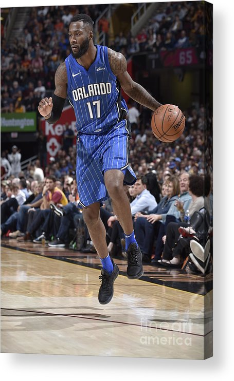 Nba Pro Basketball Acrylic Print featuring the photograph Jonathon Simmons by David Liam Kyle