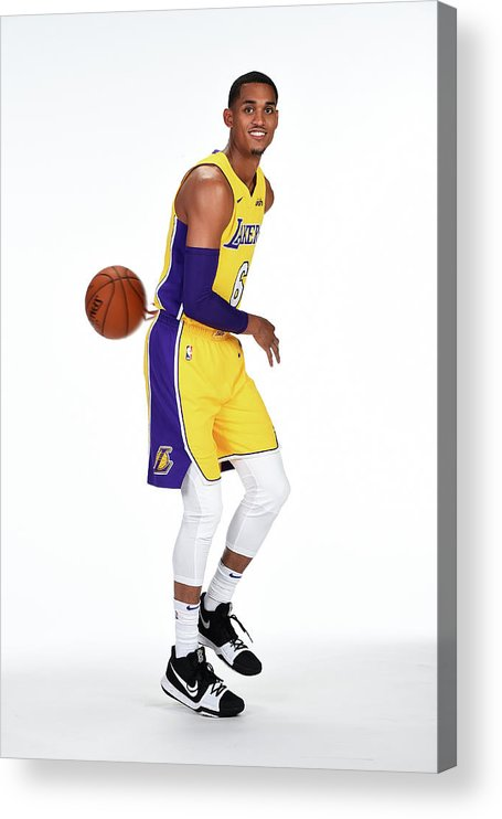 Media Day Acrylic Print featuring the photograph Jordan Clarkson by Andrew D. Bernstein
