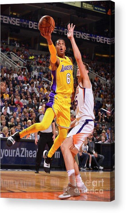 Nba Pro Basketball Acrylic Print featuring the photograph Jordan Clarkson by Barry Gossage