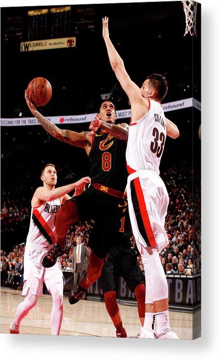 Nba Pro Basketball Acrylic Print featuring the photograph Jordan Clarkson by Cameron Browne