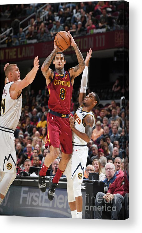 Nba Pro Basketball Acrylic Print featuring the photograph Jordan Clarkson by Garrett Ellwood